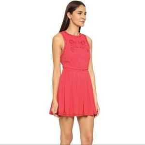 Free People Birds of a Feather dress in red